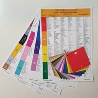 Colour Therapy Reference Chart Set